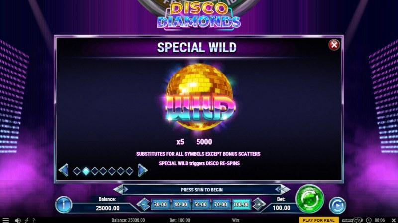 Disco Diamonds :: Wild Symbol Rules