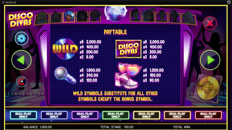 Disco Divas :: Paytable - High Value Symbols
