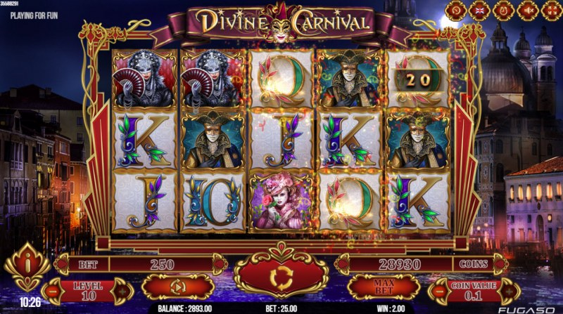 Divine Carnival :: Game pays in both directions