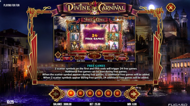 Divine Carnival :: Free Spins Rules