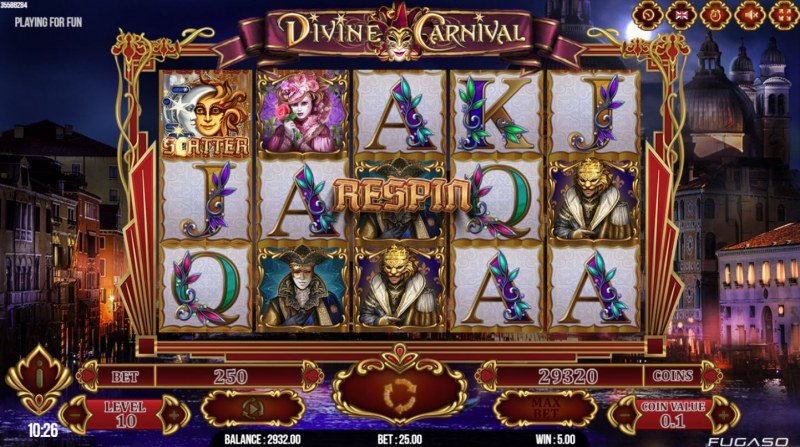 Divine Carnival :: Respin feature triggered