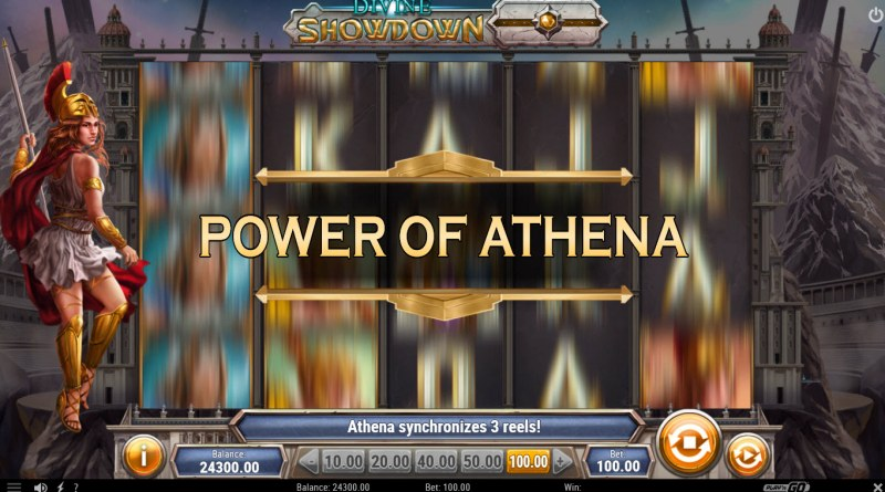 Divine Showdown :: Power of Athena feature triggered