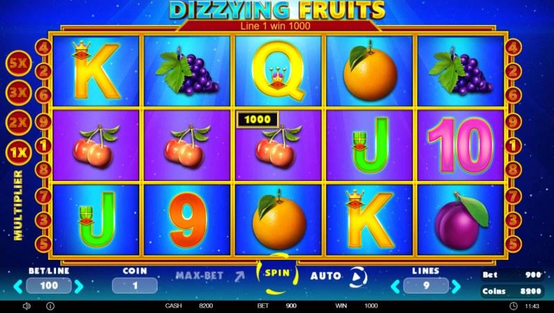 Dizzying Fruits :: Three of a kind