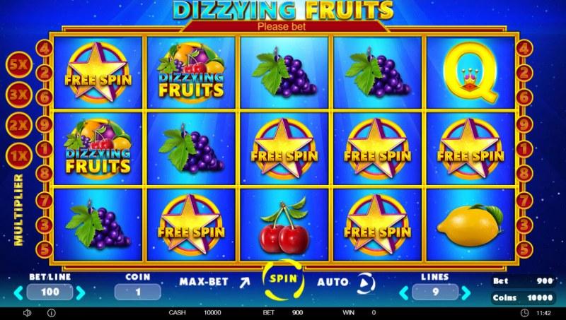 Dizzying Fruits :: Main Game Board