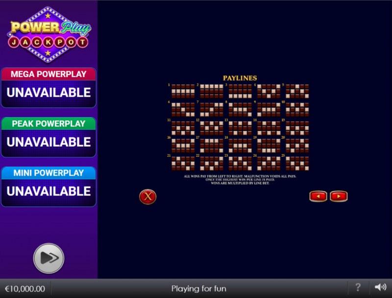 Djinn of Storms Power Play Jackpot :: Paylines 1-25
