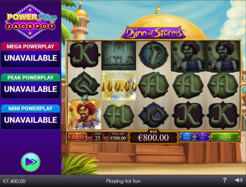 Djinn of Storms Power Play Jackpot :: Two of a kind