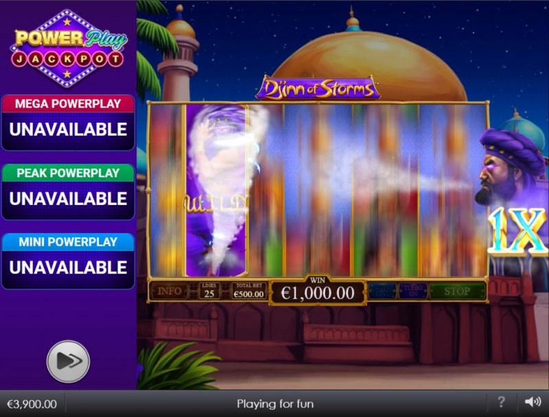 Djinn of Storms Power Play Jackpot :: Respin Feature