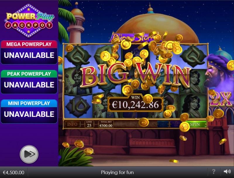 Djinn of Storms Power Play Jackpot :: Big Win