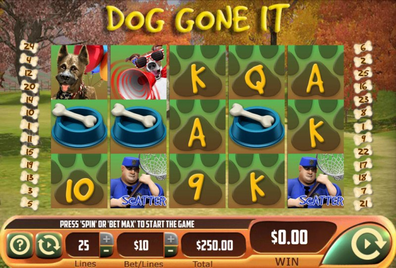 Dog Gone It :: Main Game Board
