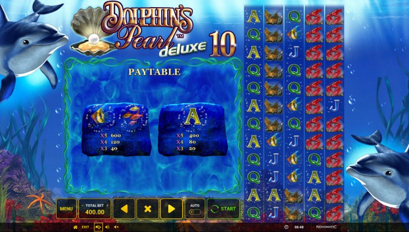 Dolphin's Pearl Deluxe 10 :: Paytable - Medium Value Symbols