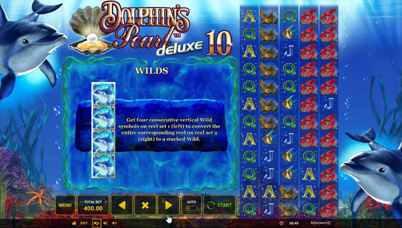 Dolphin's Pearl Deluxe 10 :: Wild Symbol Rules