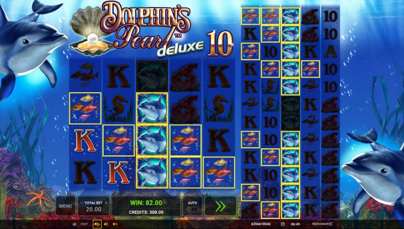 Dolphin's Pearl Deluxe 10 :: Multiple winning combinations