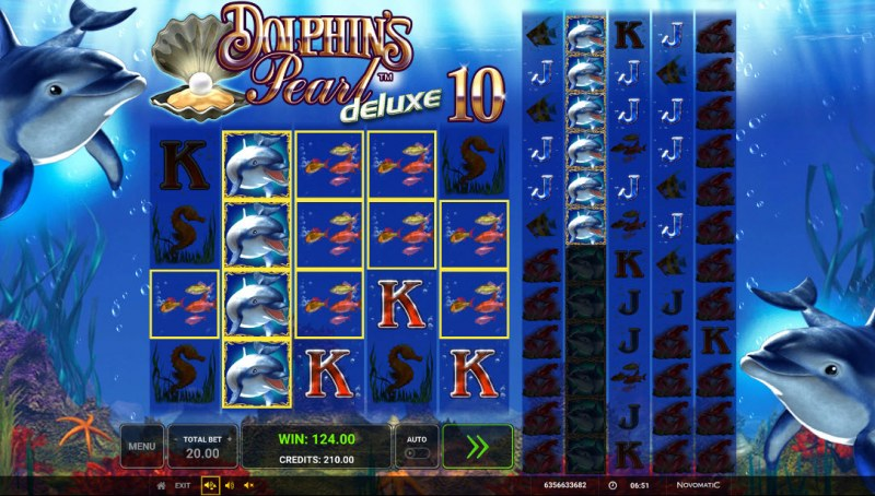 Dolphin's Pearl Deluxe 10 :: Multiple winning paylines