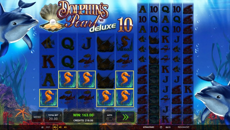 Dolphin's Pearl Deluxe 10 :: A five of a kind win