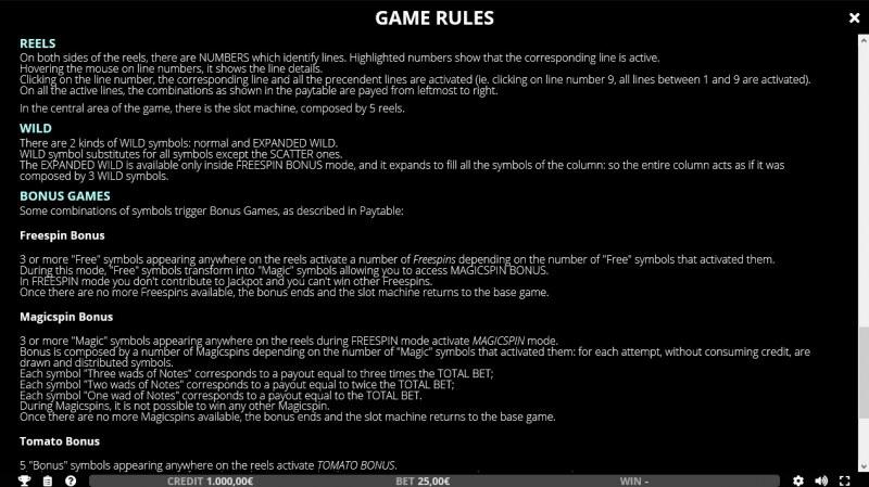 Don Corlemone :: General Game Rules