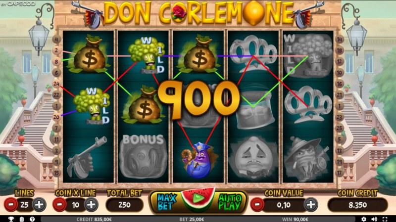 Don Corlemone :: Multiple winning combinations