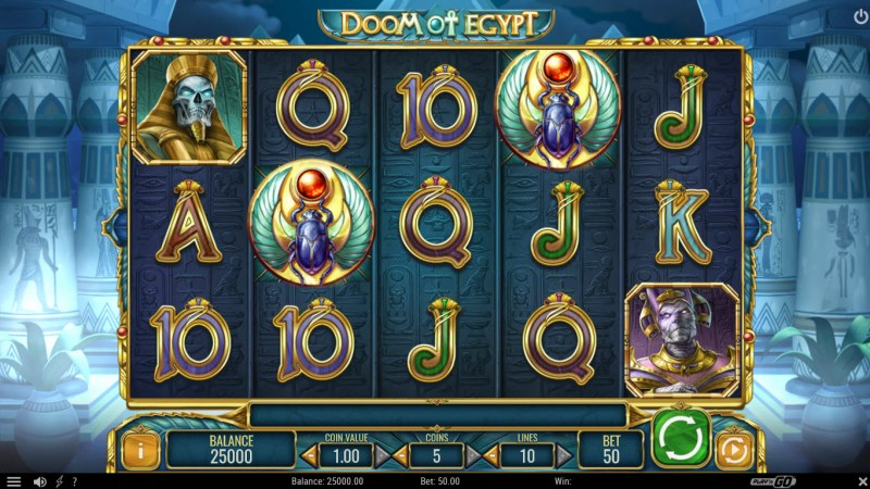 Doom of Egypt :: Main Game Board