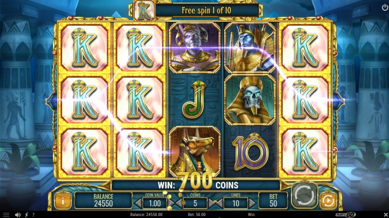 Doom of Egypt :: Free Spins Game Board