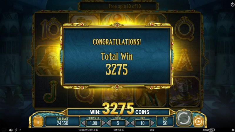 Doom of Egypt :: Total free spins payout