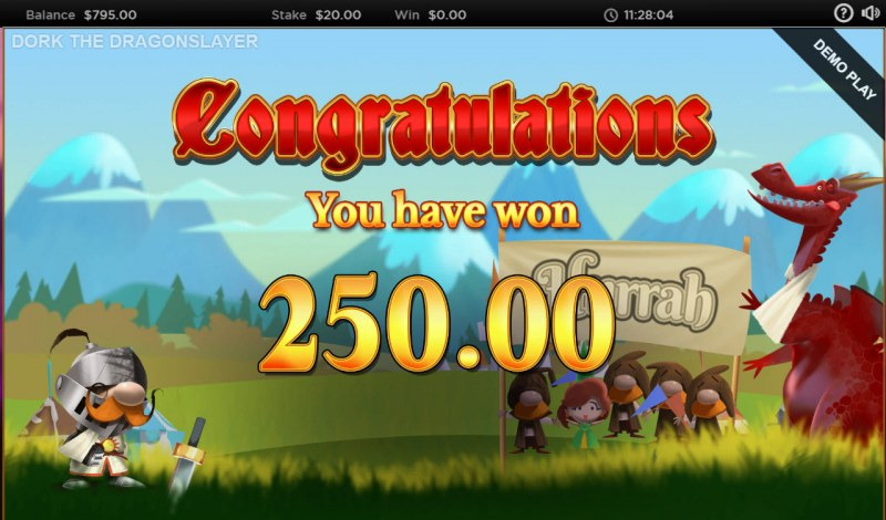 Dork the Dragon Slayer :: Total free spins payout