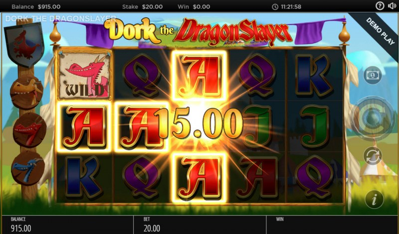 Dork the Dragon Slayer :: Multiple winning paylines