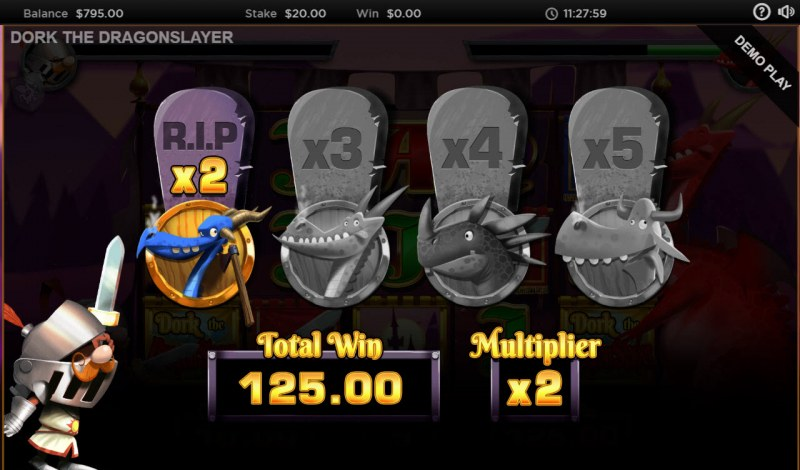 Dork the Dragon Slayer :: Free Spins end when Dork is defeated