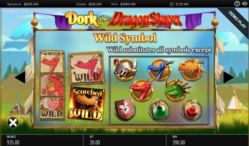 Dork the Dragon Slayer :: Wild Symbols Rules