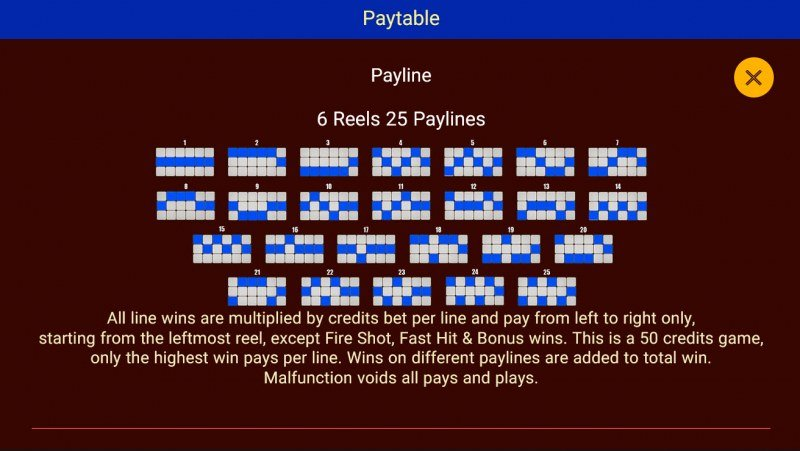 Double Flame Blazing :: Paylines 1-25