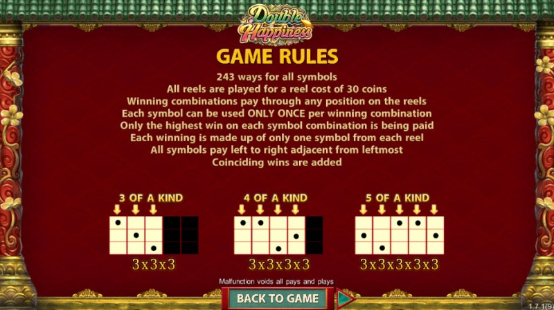 Double Happiness :: General Game Rules
