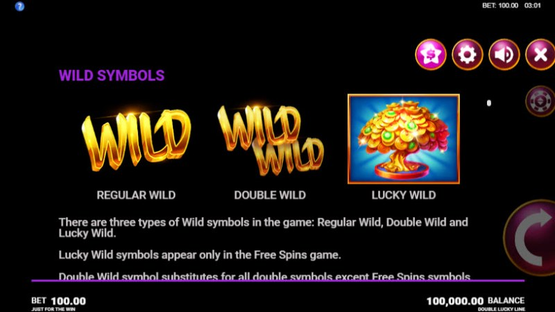 Double Lucky Line :: Wild Symbols Rules