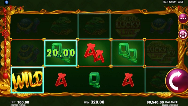Double Lucky Line :: A four of a kind Win