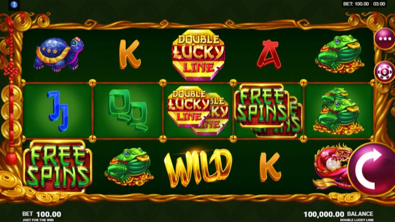 Play slots at Voodoo Dreams: Voodoo Dreams featuring the Video Slots Double Lucky Line with a maximum payout of $510,000
