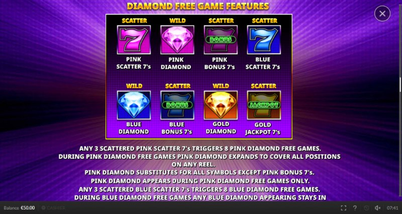 Double Scatter 7's :: Diamond Free Game Feature