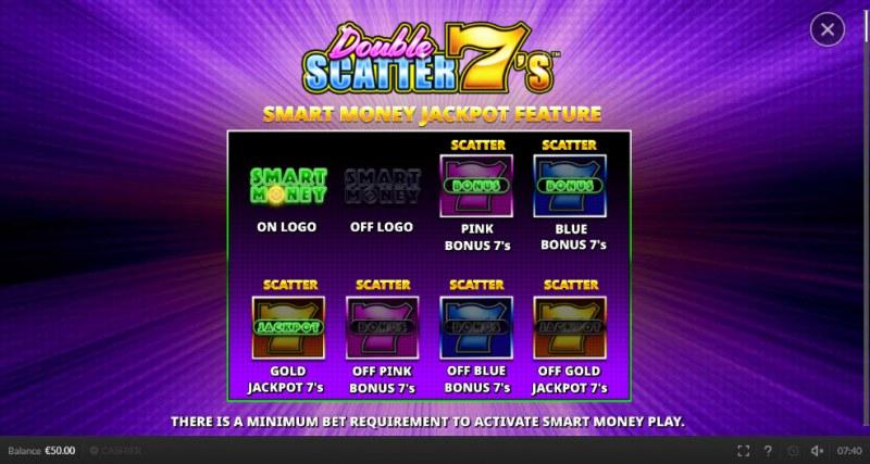 Double Scatter 7's :: Smart Money Jackpot Feature