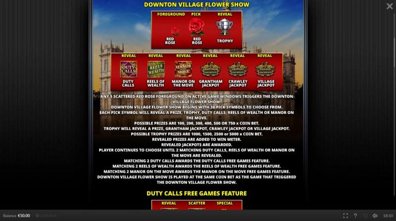 Downtown Abbey :: Bonus Game Rules
