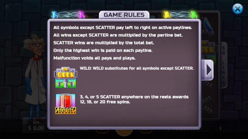 Dr. Geek :: Wild and Scatter Rules