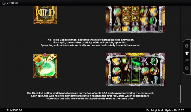 Dr. Jekyll & Mr. Hyde :: Free Spins Rules