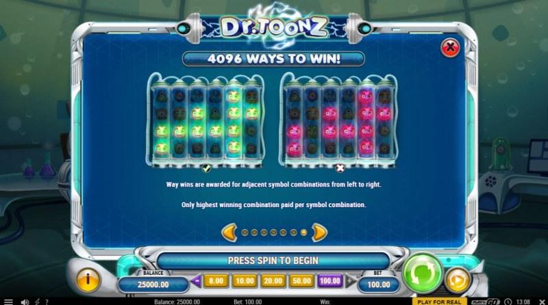 Dr. Toonz :: 4096 Ways to Win