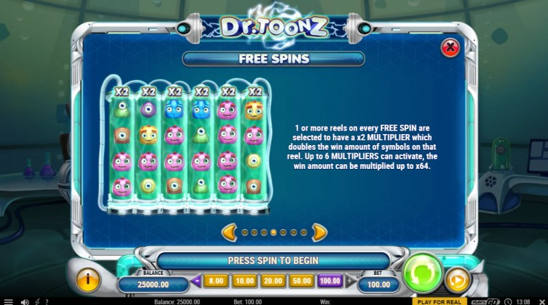 Dr. Toonz :: Free Spin Feature Rules
