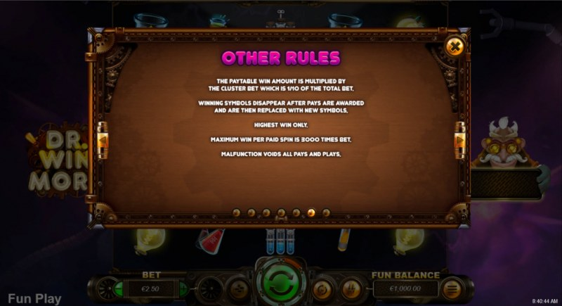 Dr. Winmore :: General Game Rules
