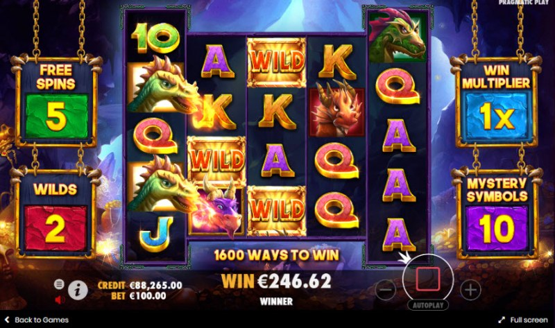 Drago Jewels of Fortune :: Free Spins Game Board