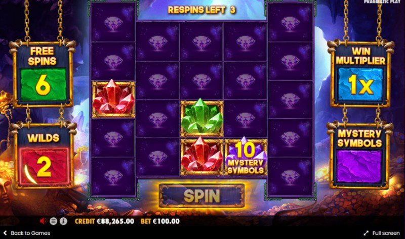 Drago Jewels of Fortune :: Spin the reels to win free spins, multipliers, wilds and mystery symbols