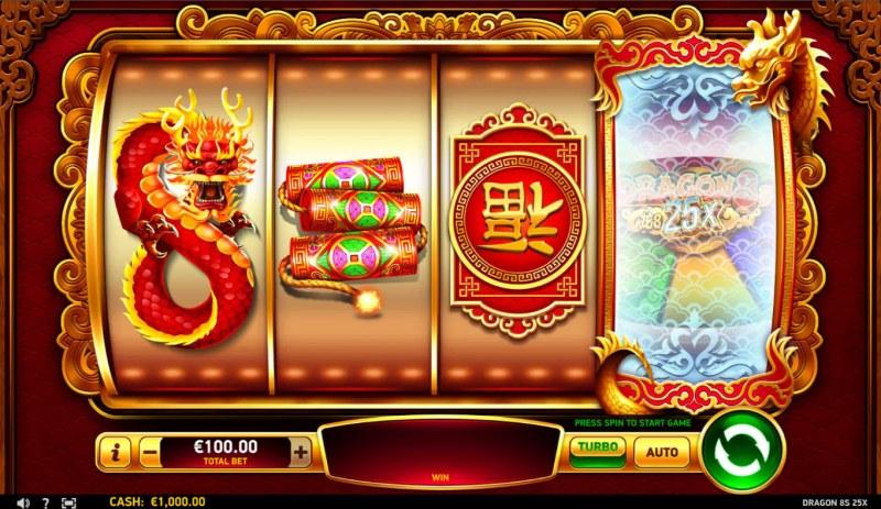 Dragon 8s 25x :: Base Game Screen