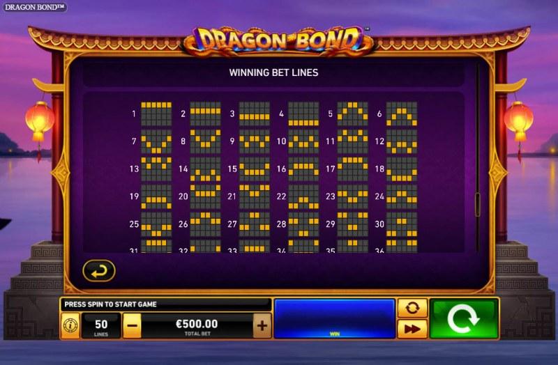 Dragon Bond :: Paylines 1-30