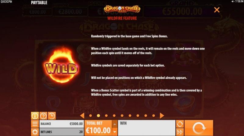 Dragon Chase :: Wild Symbols Rules