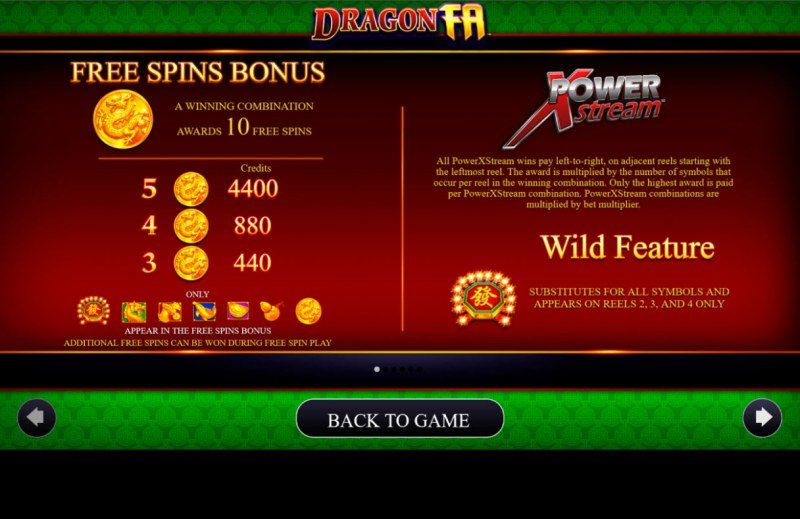 Dragon Fa :: Free Spin Feature Rules