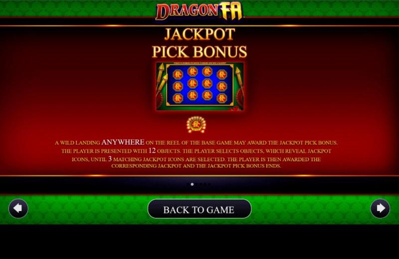 Dragon Fa :: Jackpot Rules