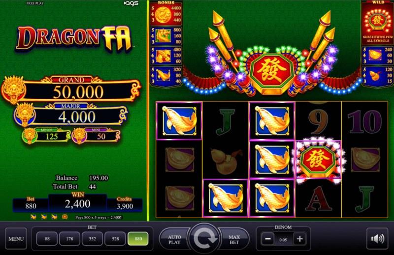 Dragon Fa :: Multiple winning paylines