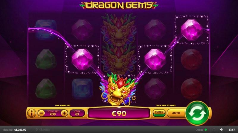 Dragon Gems :: Four of a kind