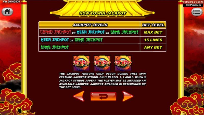 Dragon Gold :: Jackpot Rules